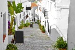 White street Frigiliana typical steps Stock Photo