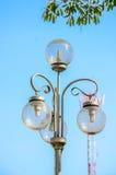 White street lamp Royalty Free Stock Image