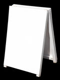 A white street sign. Royalty Free Stock Photo