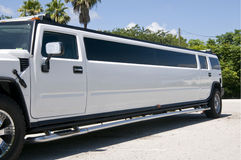 White Stretch Limo Stock Photography