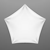 White stretched pentagonal shape with folds Royalty Free Stock Photos
