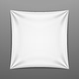 White stretched square shape with folds Stock Photo