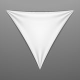 White stretched triangular shape with folds Stock Image