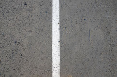 White stripe on asphalt Royalty Free Stock Photo