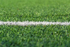 The white stripe on the football field Royalty Free Stock Photo