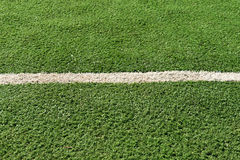 White stripe on the green grass Stock Photo
