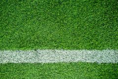 White stripe on soccer field Stock Images