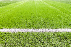 White stripe line and socker field Stock Photo