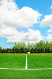 White stripe on the soccer field Stock Photos