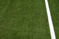 White stripe on the soccer field Royalty Free Stock Images