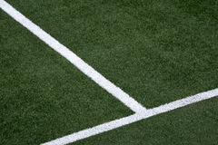 White stripe on the soccer field Stock Photo
