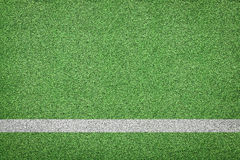 White stripe on soccer field Royalty Free Stock Image
