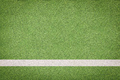 White stripe on soccer field Royalty Free Stock Photos