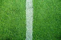 White stripe on soccer field Royalty Free Stock Photo