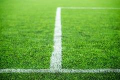 Stripe on soccer field Stock Photo