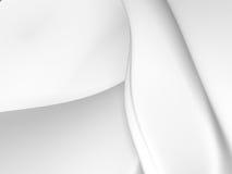 White stripe waves pattern futuristic background. 3d render illustration Stock Photos