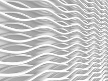 White stripe waves pattern futuristic background Royalty Free Stock Photos