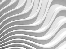 White stripe waves pattern futuristic background. 3d render illustration Royalty Free Stock Photography