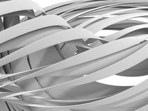 White stripe waves pattern futuristic background Stock Photography