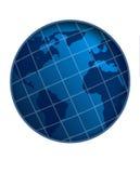 White stripe world globe Royalty Free Stock Photography