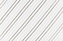 White striped corduroy fabric texture. Royalty Free Stock Photos