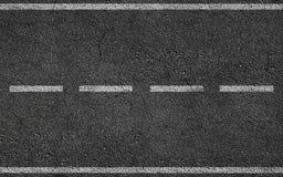 White Stripes On Asphalt Road Royalty Free Stock Photo