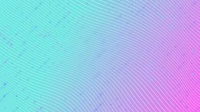 White stripes on a gradient magenta cyan background. Motion Design. 4k stock illustration
