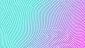 White stripes on a gradient magenta cyan background. Motion Design. 4k royalty free illustration