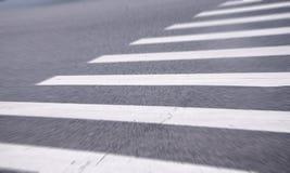 White stripes of a zebra crossing Stock Photos
