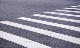 White stripes of a zebra crossing Stock Image