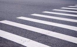 White stripes of a zebra crossing Stock Image