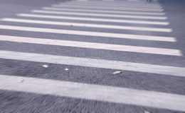 White stripes of a zebra crossing Royalty Free Stock Images