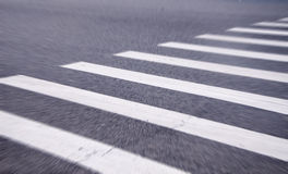 White stripes of a zebra crossing Royalty Free Stock Photography