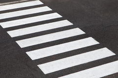 White stripes of a zebra crossing Stock Photography