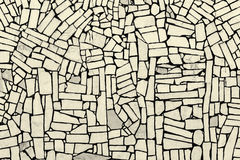 White strong tiles cemented in position create a striking abstract texture as Royalty Free Stock Image