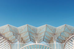 White Structural Roof Under the Bright Sky during Daytime Stock Photography