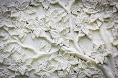 White stucco with flower texture Stock Photography