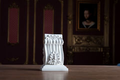 White stucco moulding against classical interior Stock Photos