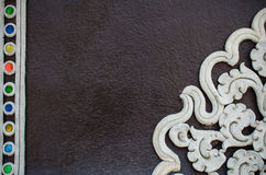 White stucco Northern Thai Style Stock Photography