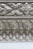 White stucco , thai style on the Wall Royalty Free Stock Photos
