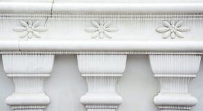 White stucco , thai style on the Wall Stock Photo
