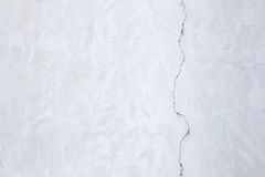 White stucco wall with cracked plaster. Background texture Stock Images