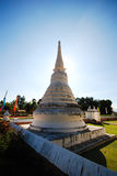 White stupa. In Thailand against clear blue sky Royalty Free Stock Images