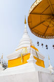 White stupa with golden tiered Stock Photo