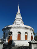 White stupa in Sichang island. Chonburi,Thailand Royalty Free Stock Photos
