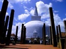 White Stupa in Sri Lanka Stock Photos