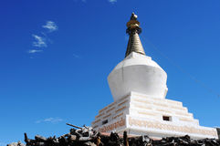 White stupa in Tibet Stock Photos