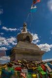 White stupa in Tibet Stock Photo