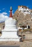 White stupa in Tiksey monastery. Ladakh, India. Stock Images