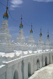 White stupas Stock Images
